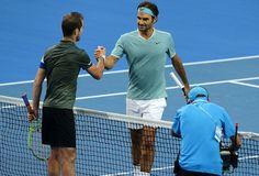 Federer cumprimenta Gasquet após a derrota na Copa Hopman (Foto: Hopman Cup)