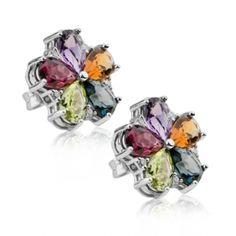 Cercei cu pietre colorate PD164   Coriolan Floral, Rings, Flowers, Jewelry, Jewlery, Jewerly, Ring, Schmuck, Jewelry Rings
