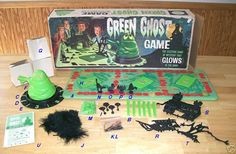 The Green Ghost Game.  This was cool! I remember having to reach in the trap doors and identify the item that you were touching and the ghost glowed in the dark I had to be only 4 or 5 when my older sisters had this game