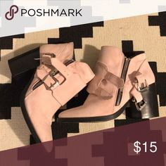 Faux Suede Pink Booties Re-posh because they're too snug on my feet.  These would fit a 7.5 better unless you have skinnier size 8 feet (my feet are wide). Forever 21 Shoes Ankle Boots & Booties