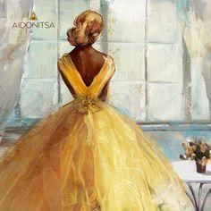 Print με φύλλο χρυσού 100x100. Από την Alphab2b.gr Disney Characters, Fictional Characters, Disney Princess, Painting, Art, Products, Art Background, Painting Art, Kunst