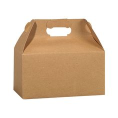 3 Brown Recycled Gable Boxes