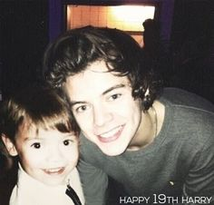 Harry as a child (left) and our Hazza now <3