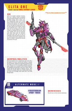 Transformers Elita One. How exactly does gender apply to a giant shapechanging robot from outer space?