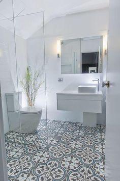 Beautiful 55 gorgeous bathroom design ideas in Australia. More under decoratre … - All For Decoration Room Tiles, Bathroom Floor Tiles, Modern Bathroom, Master Bathroom, Bathroom Gray, Floor Mirror, Shower Floor, Tile Floor, Mirror Bathroom