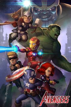Avengers Assemble!  Illustration by Jin Yung Kim