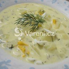 Kulajda od babičky recept - Vareni.cz Cheeseburger Chowder, Ethnic Recipes, Food, Meals, Yemek, Eten