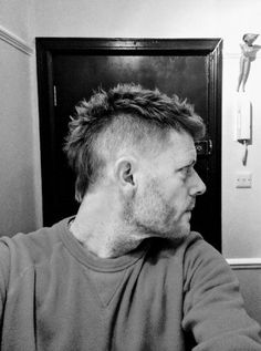 And my version of mohawk/mullet Mullet Haircut, Mohawk Mullet, Mullet Hairstyle, Fade Haircut, Short Mohawk, Short Mullet, Mohawk Hairstyles Men, Haircuts For Men, Gel Hairstyles