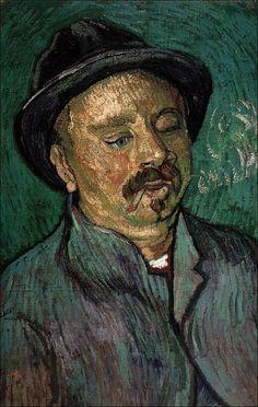 Vincent Van Gogh Autoritratto 1889 Stampa Fine Art su tela Canvas SelfPortrait