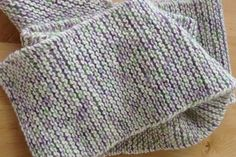 Would you like to make yourself a garter stitch scarf? To do that you will need a Garter Stitch Scarf Pattern.