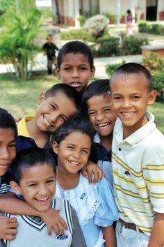 Children from Ciudad Ojeda, Venezuela.