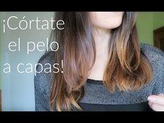 Corte de pelo a capas + Flequillo abierto y desfilado | Aprende a cortarte el pelo tú misma - YouTube