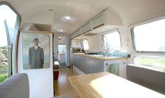 Vintage Trailer Renovated Into Beautiful Live + Work Space By Downsizing Architect Matthew Hofmann
