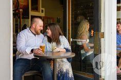 Dickson Street pub crawl engagement session. Photos by Whitney Flora Photography. Fayetteville, Arkansas.