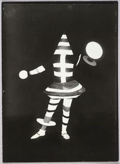 "Lucia Schulz Moholy, production and costumes designed by Kurt Schmidt, Performer from Bauhaus Stage Production ""Man at the Control Panel"" by Kurt Schmidt, 1924 (printed c. 1950), Harvard Art Museums/Busch-Reisinger Museum."