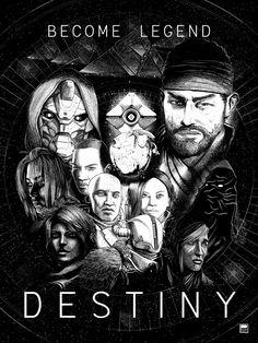 Destiny Poster, Destiny Backgrounds, Destiny Video Game, Destiny Bungie, Before The Fall, Light Of Life, Gaming Memes, Dark Anime, Dark Fantasy Art