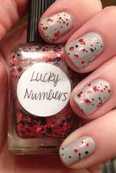 Lynnderella Lucky Numbers (2 coats) over Zoya Harley (2 coats)