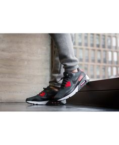 promo code 1d184 4c577 Nike Air Max 90 Ultra 2.0 Essential Mens Anthracite Black University Red  Trainers Sale UK Air