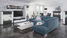 Seria Manhattan Biela arctic / Grafit - apartmán Manhattan, Living Room Sets, Couch, Furniture, Home Decor, Settee, Decoration Home, Den Decor, Sofa