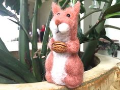 squirrel animal gift brown home decor woodland animal by Felt4Soul