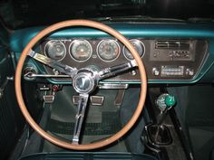 DRIVERS SEAT OF OUR 1966 PONTIAC OHC SPRINT 6 LEMANS.