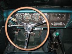 DRIVERS SEAT OF OUR 1966 PONTIAC OHC SPRINT 6 LEMANS.