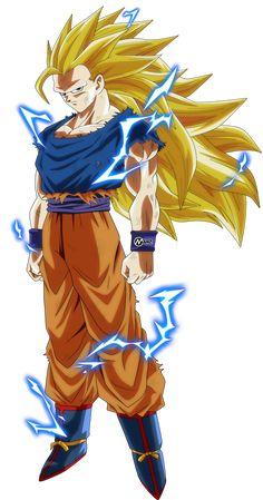 Super Saiyan 3 Goku Sama - Watch dragon ball super and dragon ball z episodes online. Dragon Ball Gt, Kid Goku, Dbz Characters, Poses References, Super Saiyan, Pikachu, Character Design, Cartoon, Hama Bead