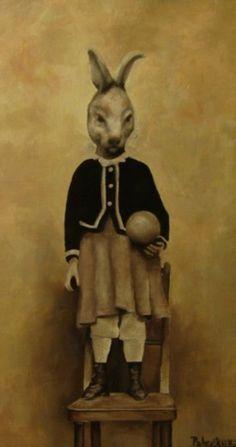 Rabbit Girl by Jana Paleckova