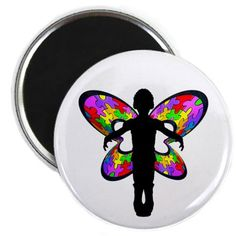 autistic butterfly magnet