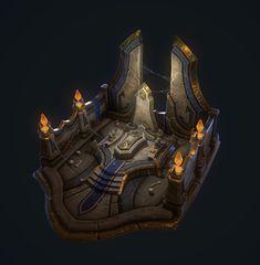 The Hierophant's Tomb, Clayton Chod on ArtStation at https://www.artstation.com/artwork/ndm26