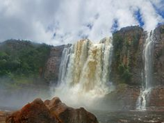 The Chinak merú Falls (Aponwao falls) in the Eastern sector of Canaima National Park, a UNESCO World Heritage Site in Venezuela