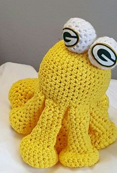 Greenbay Packers octopus dog toy etsy.com  selectme1