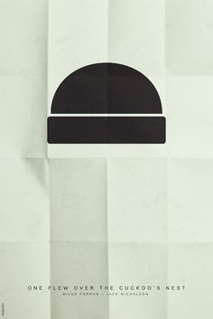 one flew over the cuckoo's  next minimalist movie poster