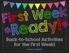 First Week Ready! {Getting-to-Know You Activities Pack} $