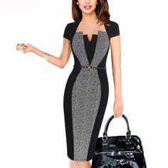 Women Elegant Work Office Business Party Bodycon Dress