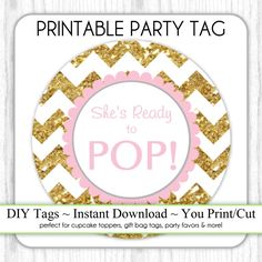 Ready to Pop Baby Shower Party: table decorations using ...