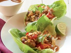 Asian Chicken Salad in Lettuce Cups with Peanut Sauce http://www.prevention.com/food/healthy-recipes/31-healing-recipes-you-cant-live-without/asian-chicken-salad-lettuce-cups-peanut-sauce