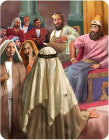 Ahab, the wicked king of Israel, wanted to recapture the town of Ramoth-gilead from the Syrians. But he needed help, so he asked good King Jehoshaphat of Judah to join his campaign against their common enemy. Jehoshaphat said he was willing to join forces with Ahab, but that they should first seek God's counsel.    Ahab had forsaken the Lord years earlier to worship the pagan god Baal, so...