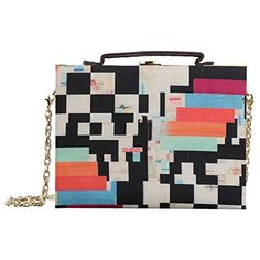 Brandvilla Women's Poly D Combination Box Clutch Big Multicolor * See this great product.