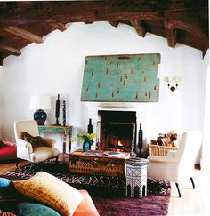 The Best Style Lessons 12 Top Designers Learned From Mom // Mother's Day, Kathryn Ireland, exotic, eclectic, living room by @Kathryn Whiteside Whiteside Whiteside M Ireland