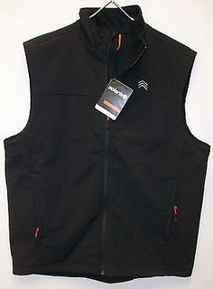 NWT Solaris Water Repellant Union Falls Fleece Lined Vest  $99  Black Rust Blue