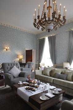 Afternoon Tea in Farnham House Decor, Light, Table, Chandelier, Ceiling Lights, Ceiling, House, Table Settings, Home Decor