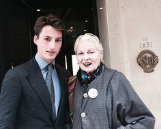 Vivienne Westwood with Marketing Assistant Gordon