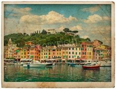 view of Portofino in vintage