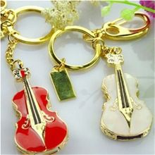 Jewellery USB Disk  with plastic Guitar Necklace usb pen drive Birthday promotional gift flash drive key ring of Customized