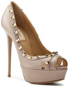 "Valentino ""Rockstud""Patent Platform Pump  Pump #Blush #PlatinumWomen #Shoes"