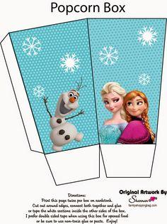 Frozen: Caja de Palomitas para Imprimir Gratis. | Ideas y material gratis para fiestas y celebraciones Oh My Fiesta!