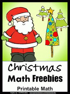Christmas FREEBIES - printable math games and puzzles - a great Christmas treat for the kids!