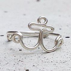 Statement Ring Anker, Silberring / silver ring anchor, maritime style made by Kizzu via DaWanda.com