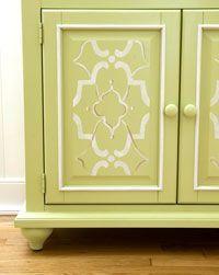 paint a cupboard doors stencil - Google Search